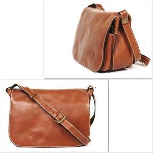 Patricia Nash Positano Leather Flap Saddle Bag